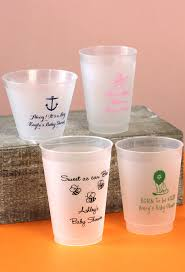 favor cups frosted plastic baby shower cups