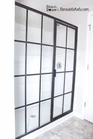 how to clean bathroom glass shower doors remodelaholic diy industrial factory window shower door