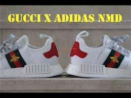 adidas x gucci gucci x adidas primeknit nmd white bee first look youtube