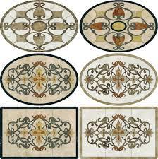 design waterjet marble tile marble floor medallions tile