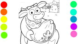 benny the bull from dora the explorer coloring book for kids with