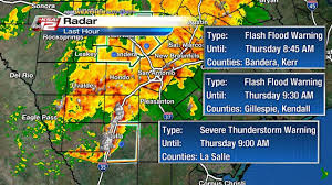 Weather Channel Radar San Antonio Texas Flash Flood Watch In Effect Rain Expected Throughout The Day