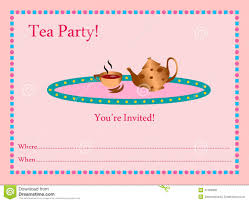 Tea Party Invitation Card Tea Party Invitation Royalty Free Stock Images Image 25567329