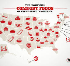 Us Map Showing States by Us Map Showing The Food Best Representing Each State Food
