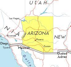 map of the united states with arizona highlighted map usa arizona major tourist attractions maps arizona