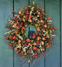 whimsical handmade thanksgiving wreath designs for your front door