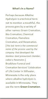 green cremation alkaline hydrolysis green cremation funeral consumers