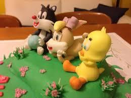 baby looney toons cake birthday fondant cake topper