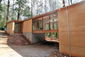 hand build architectural wood framework model house dandenong ranges rammed earth house joh architects carlton
