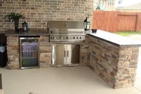 Kitchen Design Houston Impressive Prefabricated Outdoor Kitchens Houston With Faux Brick