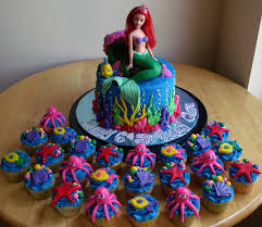 the mermaid cake the mermaid cake and cupcakes cakecentral