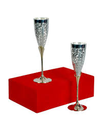 silver plated brass wine goblet wine glasses buy online at best