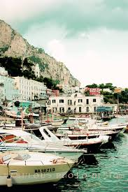 Italy Home Decor by 8x12 Or 8x10 Vintage Capri Italy Boat Fine Art Photograph