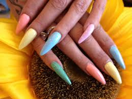 stiletto nails with pastel polish nail designs for you