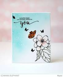 elephant design stamp highlights butterfly kisses