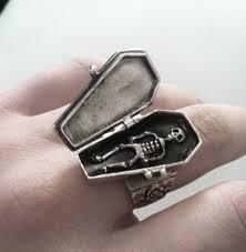 jewels coffin ring casket skeleton halloween pastel goth
