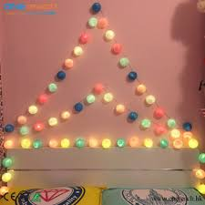 decoration lights for party china cotton ball string lights wedding party lights christmas decor