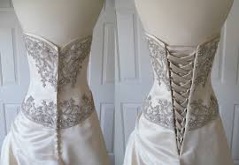 wedding dress alterations cost has anyone replaces their zipper on wedding dress with a corset