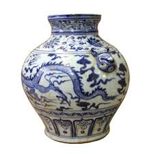 small foo dogs blue white porcelain scenery small foo dog accent