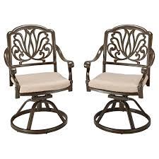 Sorrento Patio Furniture by Belham Living Sorrento Cast Aluminum Patio Dining Swivel Arm Chair