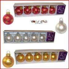 6 gold christmas bauble place card holder wedding favours tree