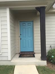 front door color in valspar u0027s ci189 blue lagoon diy projects