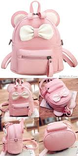 book bags with bows mini bow ears small school pu backpacks only