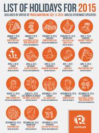 list 2015 philippine holidays