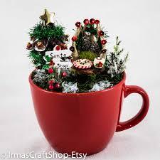 deluxe fairy christmas cup garden fairy christmas fairy garden