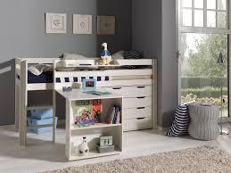 Schreibtisch Kinder Funktions Hochbett Pino Mit Schreibtisch Kiefer Weiß Teilmassiv