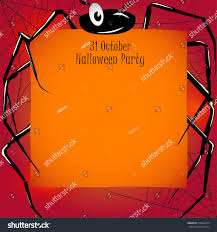 halloween party background halloween party card invitation funny spider stock vector