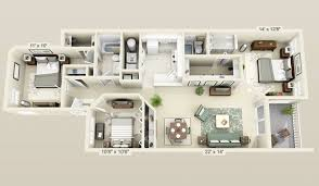 cool floor plans general cool 3 bedroom 3d plans 3 bedroom apartment house plans