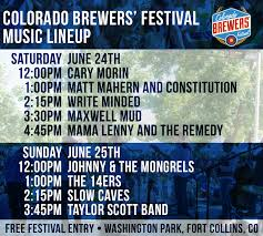 Colorado Breweries Map by Colorado Brewers U0027 Festival Downtown Fort Collins