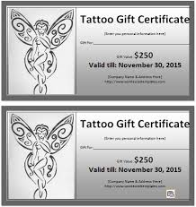ms word tattoo gift certificate template word u0026 excel templates