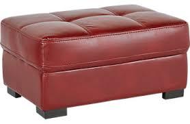 red ottomans fabric microfiber storage