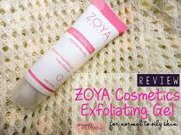 Sabun Zoya review zoya cosmetics exfoliating gel normal to the