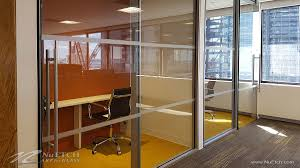 comercial glass doors distraction markers on glass panels and doors in commercial space