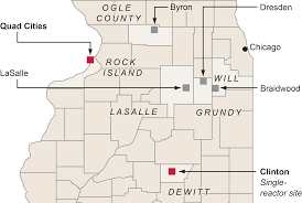 Illinois Map Of Cities by Nuclear Power In Illinois Chicago Tribune