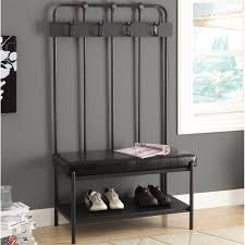Entryway Bench And Storage Shelf With Hooks Bench Bench With Coat Hooks Entryway Bench Hooks Ideas Coat