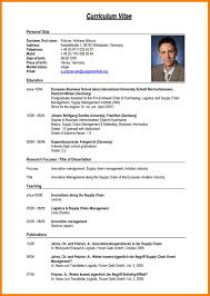 student curriculum vitae pdf exles resume cv in english therpgmovie