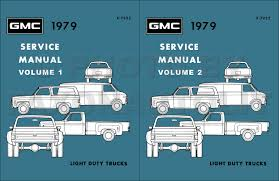 1979 gmc 1500 3500 truck repair shop manual pickup jimmy