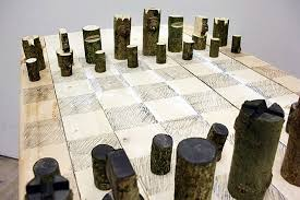 chess set designs peter marigold s log chess set is made from a single branch