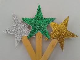 Christmas Decorations For Tree To Make by How To Make Diy Glitter Stars For Decorating Christmas Trees Youtube