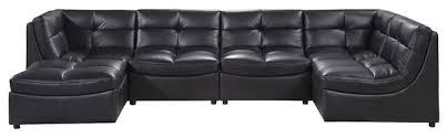 Modular Sectional Sofa Pieces Cloud Modular Sectional And Ottoman 6 Piece Set Contemporary