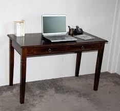 Schreibtisch Holz Schubladen Schreibtisch 130x80x64cm 2 Schubladen Pappel Massiv