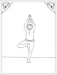 storytime yoga for kids asana coloring page tree pose