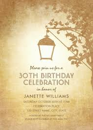 custom invites vintage garden 30th birthday invitations rustic country l