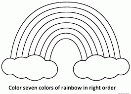 coloring page rainbow color pages coloring printable page