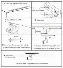 how to install flood lights 1pcs 5w cob led spotlight track lighting ac85 265v led track l