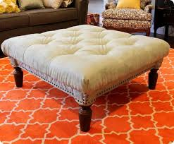 How To Make An Ottoman From A Coffee Table Beautiful Diy Ottoman Coffee Table Diy Tufted Ottoman